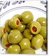 Stuffed Green Olives Acrylic Print