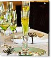 Stylish Dining Table Arrangement Acrylic Print