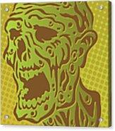Stylized Zombie Acrylic Print