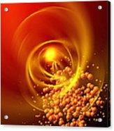 Subatomic Particles Abstract Acrylic Print by Mehau Kulyk