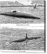 Submarine Launch, 1890 Acrylic Print