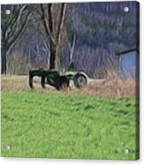 Subsoiler On The Farm  Acrylic Print