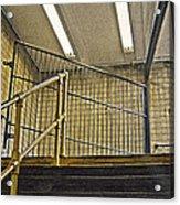 Subway Exit In New York Acrylic Print