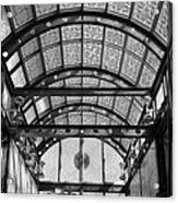 Subway Glass Station In Black And White Acrylic Print
