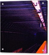 Subway Silence Acrylic Print