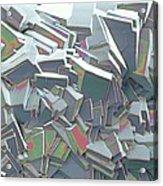 Sucrose Crystals, Sem Acrylic Print by Steve Gschmeissner