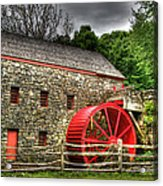 Sudbury - Storm Looms At The Grist Mill Acrylic Print