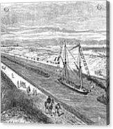 Suez Canal, 1868 Acrylic Print