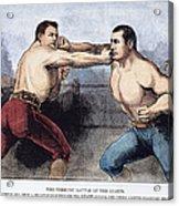 Sullivan & Kilrain Fight Acrylic Print