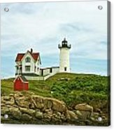 Summer Afternoon At Nubble Light Acrylic Print