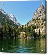 Summer Day At Jenny Lake Acrylic Print