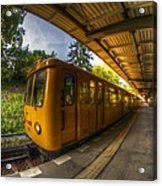 Summer Eveing Train. Acrylic Print