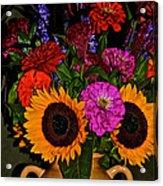 Summer Flower Bouquet Acrylic Print