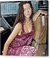Summer Glau - River Tam Acrylic Print