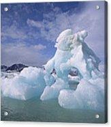 Summer Icebergs, Spitsbergen Island Acrylic Print
