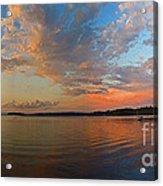 Summer Night At Sebago Lake Acrylic Print
