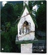 Summer Night With Birdhouse Acrylic Print