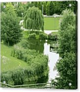 Summer Park In Belgium Acrylic Print