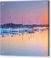 Summer Sails Reflections Acrylic Print