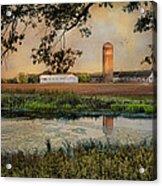Summer Silo Reflection Acrylic Print