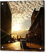 Summer Sunset Over A Cobblestone Street - New York City Acrylic Print