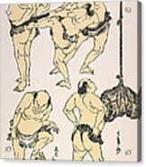 Sumo Wrestlers, 1817 Acrylic Print