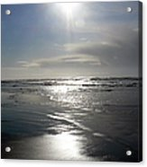 Sun And Silver Sea Acrylic Print