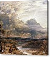 Sun Behind Clouds Acrylic Print by John Linnell