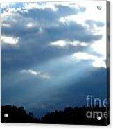 Sun Breaks Through Stormy Sky Acrylic Print
