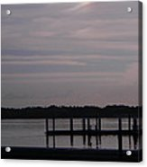 Sun Dog Over Lake Acrylic Print