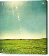 Sun Over Field Acrylic Print