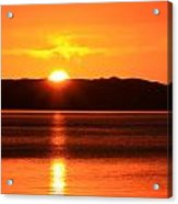 Sun Over Rotortua Nz Acrylic Print