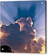 Sun Rays And Clouds Acrylic Print