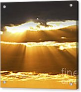 Sun Rays At Sunset Sky Acrylic Print by Elena Elisseeva