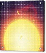 Sun Reflected In A Solar Panel Acrylic Print