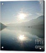 Sun Reflections On A Lake Acrylic Print