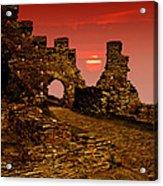 Sun Set Castle Acrylic Print