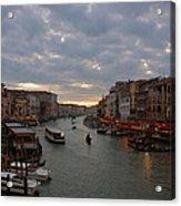 Sun Sets Over Venice Acrylic Print