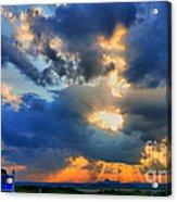 Sun Setting On A Wonderful Day Acrylic Print