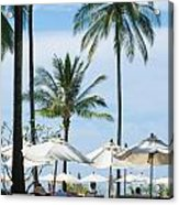Sunbath Near The Pool Acrylic Print