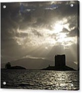 Sunbeams On Castle Stalker Acrylic Print