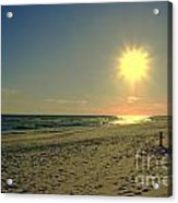 Sunburst At Henderson Beach Florida Acrylic Print by Susanne Van Hulst