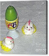 Easter Chicks And Kitties Acrylic Print
