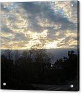 Sunday Autumn Sunset One Acrylic Print