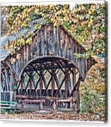 Sunday River Covered Bridge Acrylic Print