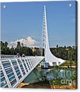Sundial Bridge - Sit And Watch How Time Passes By Acrylic Print by Christine Till