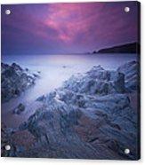 Sundown At Leas Foot Acrylic Print by Mark Leader
