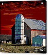 Sundown On The Farm Acrylic Print