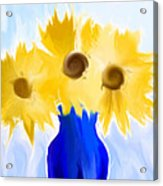 Sunflower Fantasy Still Life Acrylic Print