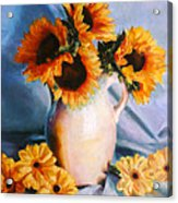 Sunflowers And Daisies Acrylic Print